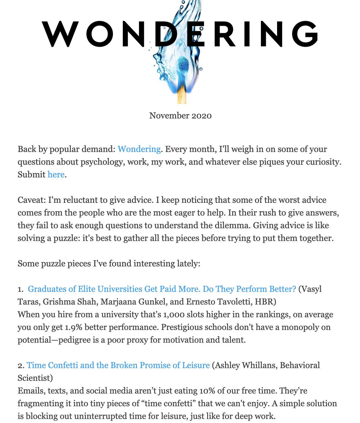 Brunchwork newsletter.