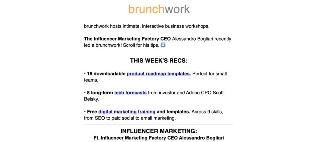 brunchwork newsletter