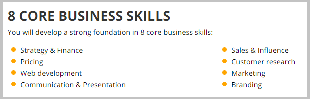 Business Education MBA Skills
